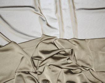 Taupe iridescent two tone sheer Chiffon drapery wedding appeal fabric 50 yards