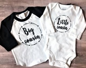 Big Cousin Arrow Shirt / Little cousin onesie® // brother shirt, sister shirt, cousin shirt, family photos, pregnancy announcement