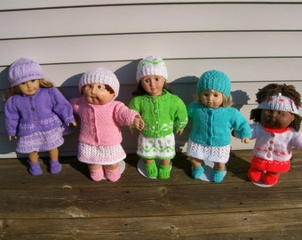 98) Complete Outfits Hat Sweater Dress Shoes Skirt Blouse 13 15 and 18 Inch Dolls American Girl Bitty Baby Cabbage Patch Dolls Doll Clothes