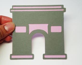 Arc De Triomphe SVG Cut File, Paris Landmark SVG, DXF for Silhouette Studio, Cricut Design Space, Digital Cut Files, Paris Dxf Cut File