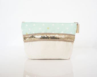 "make up case made in cotton ""Gaston"" // purse // bathroom"