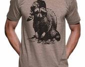 Bad Raccoon Shirt Mens Tshirt Boyfriend Funny Tshirts Womens Graphic Tees Kids Tshirt Gifts For Him Camping Shirt Hiker Present For Husband