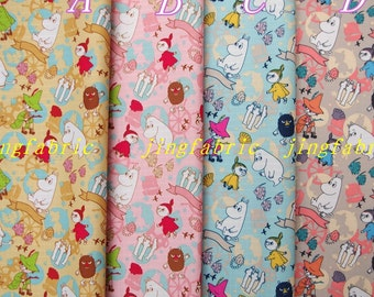 W502 - 140cmx100cm Vinyl Waterproof Fabric - Moomin World