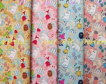 W502 - 140cmx100cm Vinyl Waterproof Fabric - Moomin World