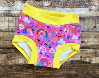 Happy Cloud toddler trainers/ potty training underwear/potty training pants/ training pants / Eco trainers/ trainers