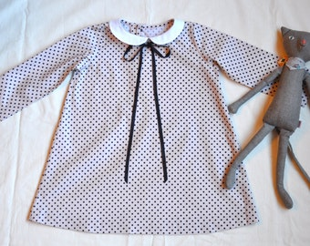 3T Peter Pan Collared  French Inspired Classic Dress