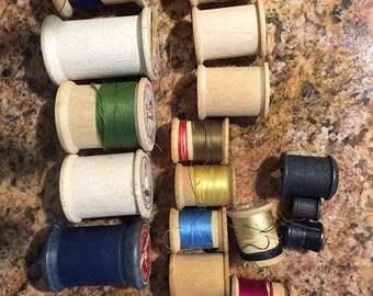 Wood spools 28