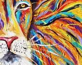 Custom painting order 40x30 lion painting