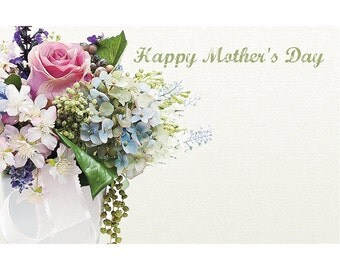 """50 """"Happy Mother's Day"""" Bouquet Florist Blank Enclosure Cards Small Tags Crafts (Free Shipping!)"""