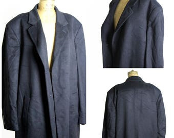 Cashmere Trench Coat, Size 58R