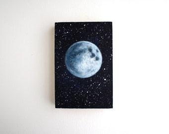 Full Moon Painting - 4 x 6