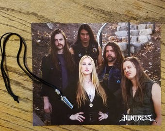 Exclusive Huntress Signed Photo, Quartz Crystal Necklace & Guitar Picks