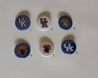"University of Kentucky Wildcats Pin Back Buttons 1.25"""