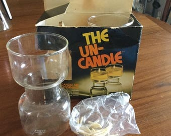 NIB Pyrex UnCandle. Never Used. All wicks