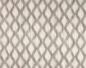 "Two 96"" x 50""  Custom  Curtain Panels - Ripa Trellis -Shell"