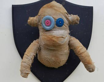 Wall Mounted Mummy Sock Monkey