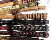 Custom Hand Carved Hawthorn Wood Magic Wand