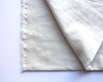 cotton double gauze fabric. soft japanese pure cotton fabric. 102cm (40in) wide. sold by 50cm (19in) long / half yard. smokey white
