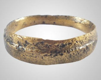 Authentic Ancient Viking wedding Ring Band  Mans Wedding Ring,  C.866-1067A.D. Size 8 1/2  (19.2mm)(Brr1117)