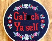 PATTERN MATURE Ga' F-ck Ya Self Murderino My Favorite Murder Cross Stitch Go F Yourself Crossstitch Instant Download PDF
