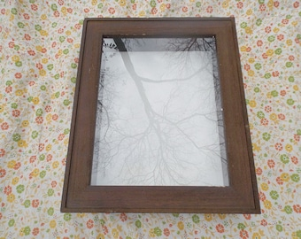 Wooden Hinged Shadowbox Vintage