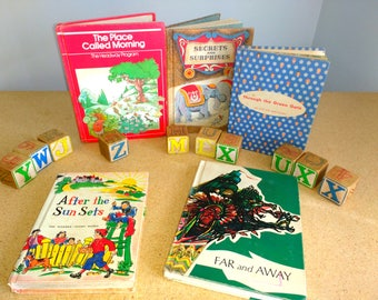 Five Vintage School Readers Lot Primary Reader  Grade 2 3 Story Books Homeschool School 1950s 1970s