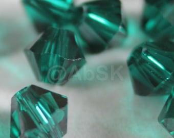 144 pieces Genuine Swarovski Crystal 5328 5301 2.5mm Xilion Bicone Beads EMERALD