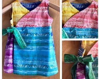 Tye Dye Hippie/Boho Wrap Dress, size 3t