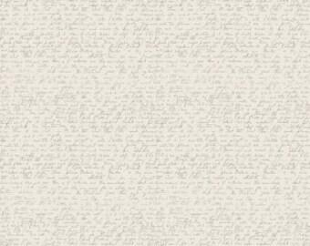 Ava Rose by Deena Rutter for Riley Blake Designs, Script Cream, SKU C5876, 1 yd