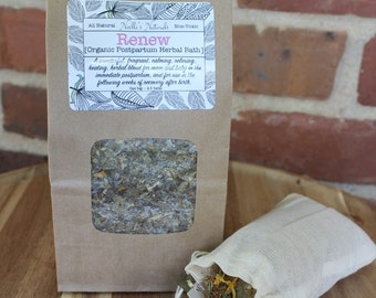 Organic Postpartum Healing Herbal Bath - For after childbirth - Sitz Bath - Promotes Healing and Relaxation after birth