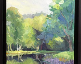 Quiet Afternoon Framed Original Landscape Oil Painting Plein Air