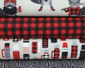 Red Burly Beaver Bundle from Robert Kaufman by Andie Hanna - 4 Fabrics