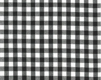 Black 1/4 Inch Gingham from Robert Kaufman's Carolina Gingham Collection