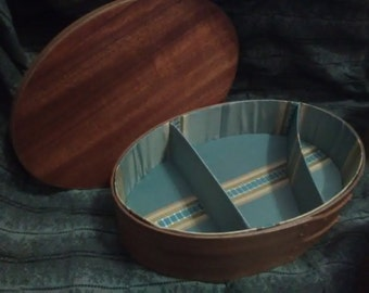 Silk Lined Shaker Style Sewing Box