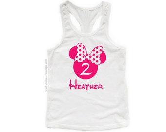 Minnie Mouse Shirt, Girls Disney Tank, Minnie Mouse Theme, Minnie Shirt, Minnie tank, Disney tank top,girls Disney shirt, girls minnie shirt