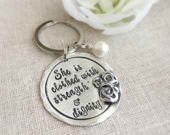 Personalized Gifts . Mothers Keyring . Keyring . Keychain . Accessories . Blessed . Mom Gift . Gift for Her . Handmade Gifts . Custom Gifts