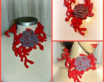 Handmade crochet  necklace fairy hippie.boho,gipsy style