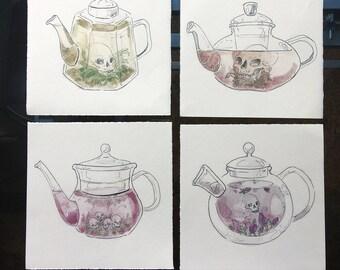 Poison tea prints