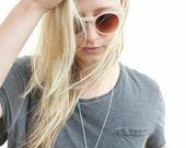 SALE V Necklace- Statement necklace- Minimal Necklace- Geometric Necklace- Brass Necklace- Silver Necklace.