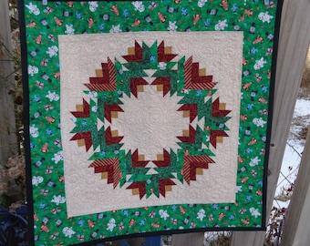 Christmas Quilt, Wreath Quilt, 1209-02