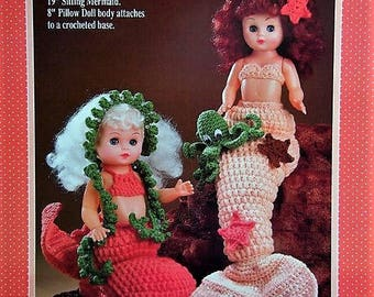 Coral Mermaids Crochet Doll Pattern by Fibre Craft