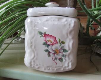 Porcelain German Floral Storage Jar