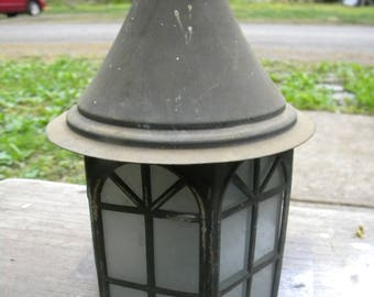 neat vintage 1930s 1940s COPPER PORCH cottage CABIN wall light