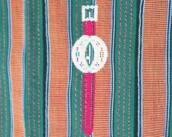 Vintage African Textile, Ewe Kente with Fanti motifs by the Ashanti people, agbamevo, Ghana
