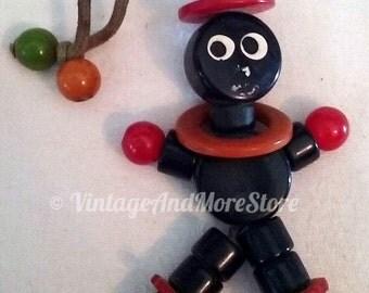 Vintage Tykie Crib Toy Baby Cannibal Catalin Bakelite Black Cherry Butterscotch Nursery