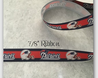 Patriots 7/8 inch Grosgrain ribbon
