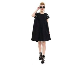Flapper Dress in Black , Short Casual Dress for Women, Trendy Spring Dress, Handmade Chic Boho Dress
