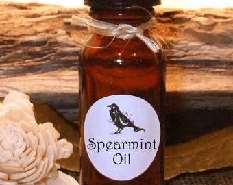 SPEARMINT OIL - Essential Oil Blend - .5 (1/2 oz) Amber glass bottle.