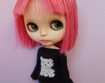 Sweater with bear, available in different sizes and colors,pure neemo,blythe,pullip,yo-sd, littlefee,momoko...)
