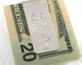 Kids drawings money clip - Handwriting money clip - Actual writing - Personalized gift - Actual drawings - Keepsake - Gift for dad, grandpa